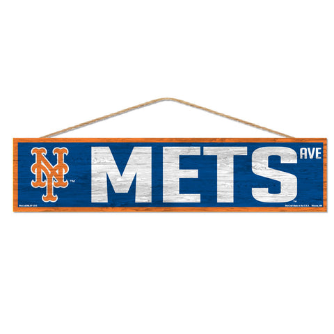 New York Mets Sign 4x17 Wood Avenue Design
