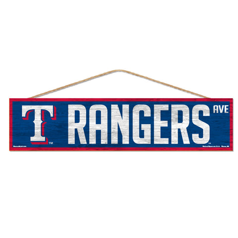 Texas Rangers Sign 4x17 Wood Avenue Design