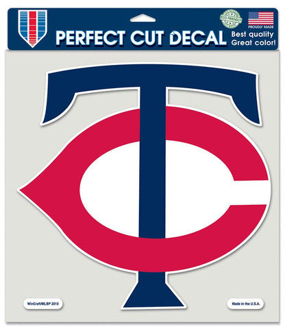 Minnesota Twins Decal 8x8 Die Cut Color