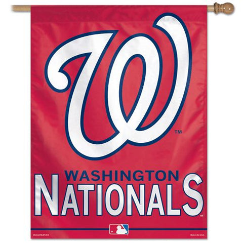 Washington Nationals Banner 28x40 Vertical Alternate Design