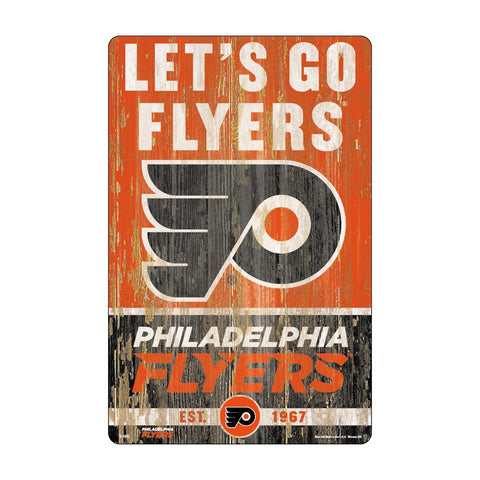 Philadelphia Flyers Sign 11x17 Wood Slogan Design