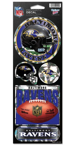 Baltimore Ravens Stickers Prismatic