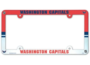 Washington Capitals License Plate Frame - Full Color