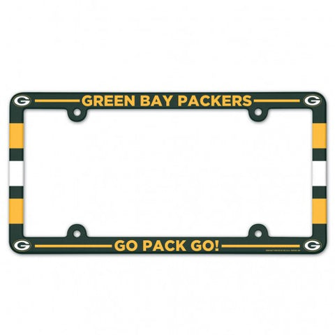 Green Bay Packers Full Color License Plate Frame