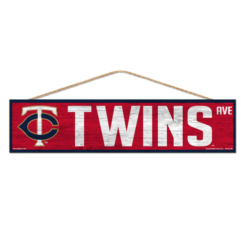 Minnesota Twins Sign 4x17 Wood Avenue Design