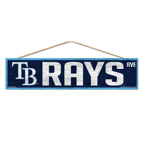 Tampa Bay Rays Sign 4x17 Wood Avenue Design