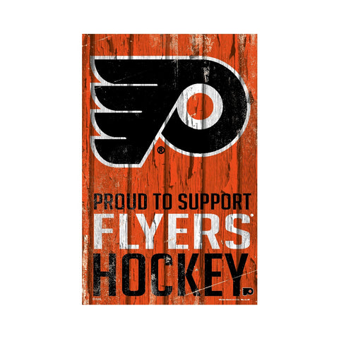Philadelphia Flyers Sign 11x17 Wood Proud to Support Design