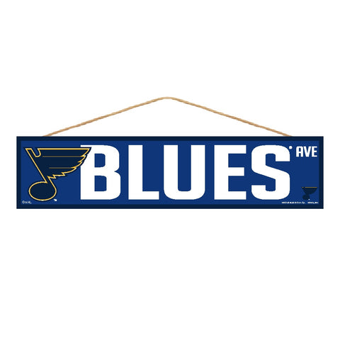 St. Louis Blues Sign 4x17 Wood Avenue Design