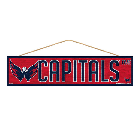 Washington Capitals Sign 4x17 Wood Avenue Design