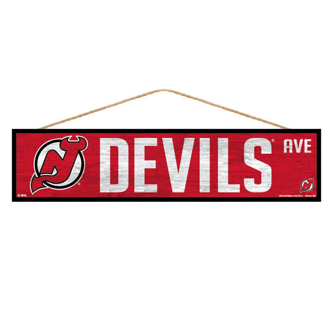 New Jersey Devils Sign 4x17 Wood Avenue Design