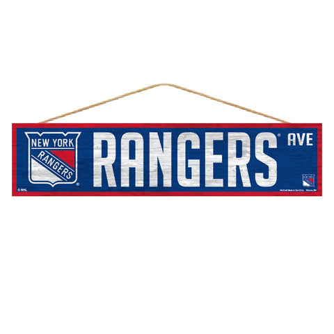 New York Rangers Sign 4x17 Wood Avenue Design