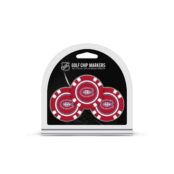 Montreal Canadiens Golf Chip with Marker 3 Pack