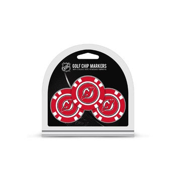 New Jersey Devils Golf Chip with Marker 3 Pack