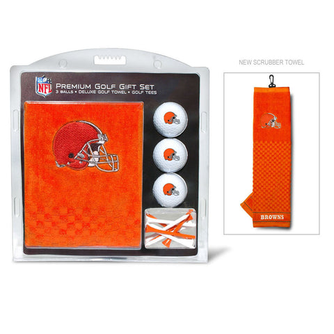 Cleveland Browns Golf Gift Set with Embroidered Towel
