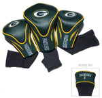 Green Bay Packers Golf Club 3 Piece Contour Headcover Set