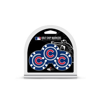 Chicago Cubs Golf Chip with Marker 3 Pack