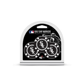 Chicago White Sox Golf Chip with Marker 3 Pack