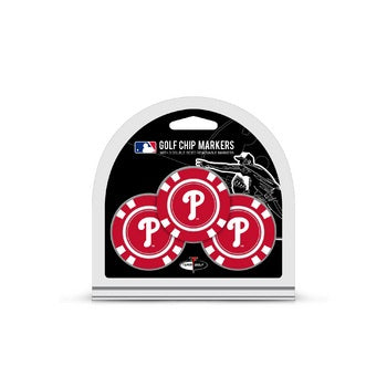 Philadelphia Phillies Golf Chip with Marker 3 Pack