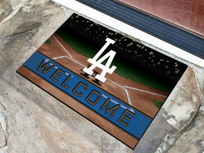 Los Angeles Dodgers Door Mat 18x30 Welcome Crumb Rubber