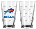 Buffalo Bills Satin Etch Pint Glass Set