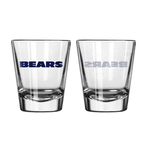 Chicago Bears Shot Glass - 2 Pack Satin Etch