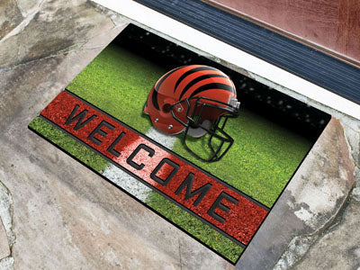 Cincinnati Bengals Door Mat 18x30 Welcome Crumb Rubber