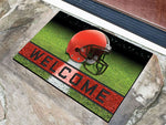 Cleveland Browns Door Mat 18x30 Welcome Crumb Rubber