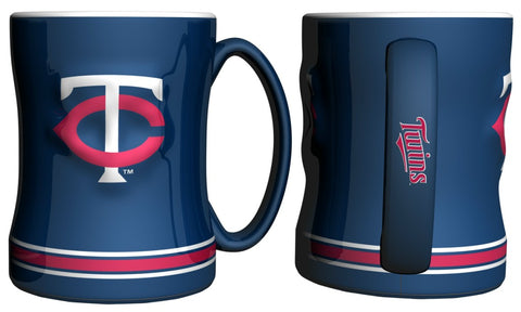 Minnesota Twins Coffee Mug - 14oz Sculpted Relief