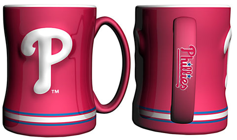 Philadelphia Phillies Coffee Mug - 14oz Sculpted Relief