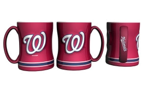 Washington Nationals Coffee Mug - 14oz Sculpted Relief