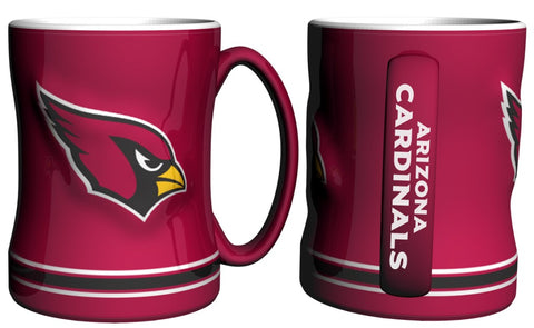 Arizona Cardinals Coffee Mug - 14oz Sculpted Relief