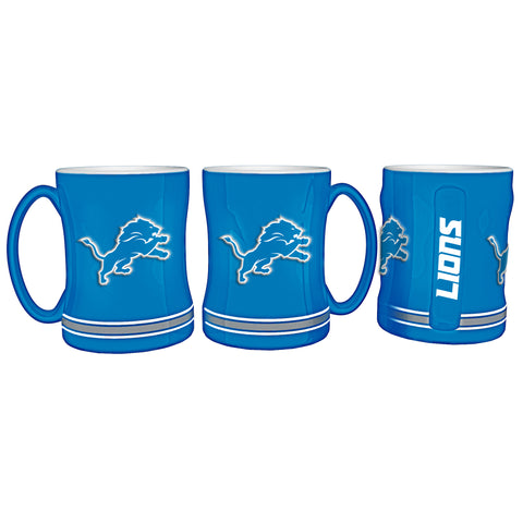 Detroit Lions Coffee Mug - 14oz Sculpted Relief