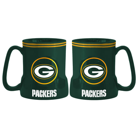 Green Bay Packers Coffee Mug - 18oz Game Time (New Handle)