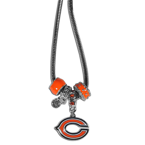 Chicago Bears Necklace Euro Bead Style
