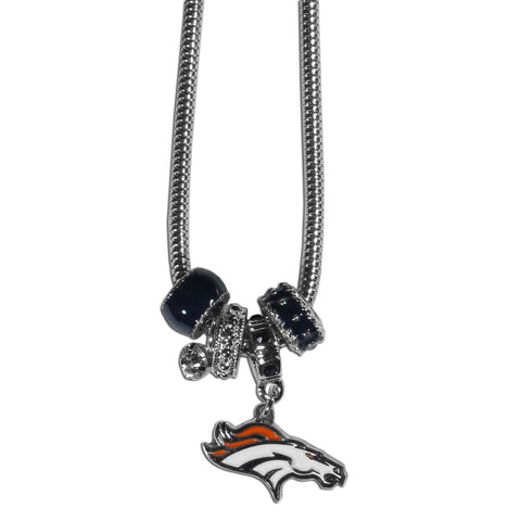 Denver Broncos Necklace Euro Bead Style