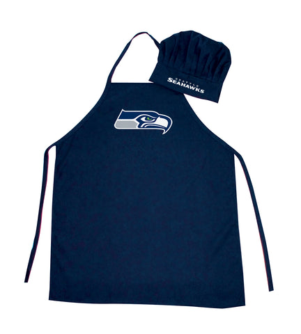 Seattle Seahawks Apron and Chef Hat Set