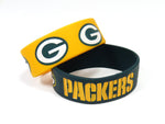 Green Bay Packers Bracelets 2 Pack Wide