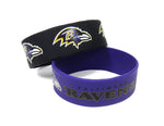 Baltimore Ravens Bracelets 2 Pack Wide