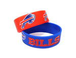 Buffalo Bills Bracelets 2 Pack Wide
