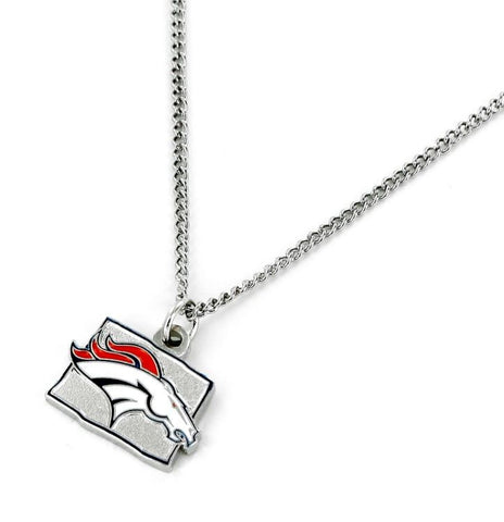 Denver Broncos Necklace State Design