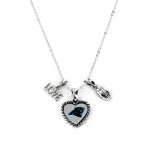 Carolina Panthers Necklace Charmed Sport Love Football