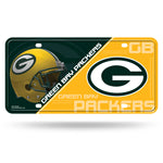 Green Bay Packers License Plate Metal
