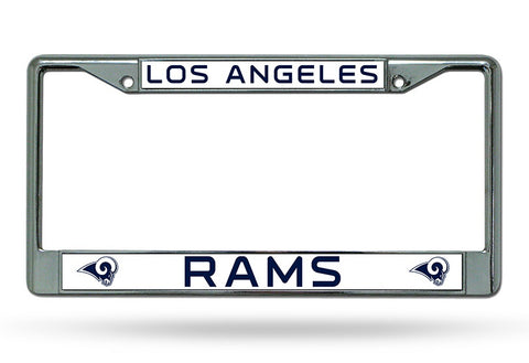 Los Angeles Rams License Plate Frame Chrome