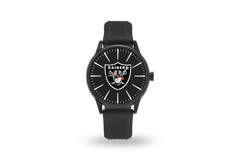 Oakland Raiders Watch Men's Cheer Style with Black Watch Band