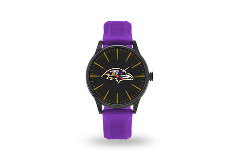 Baltimore Ravens Watch Men's Cheer Style with Purple Watch Band