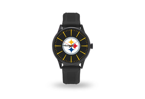 Pittsburgh Steelers Watch Men's Cheer Style with Black Watch Band
