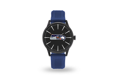 Seattle Seahawks Watch Men's Cheer Style with Navy Watch Band