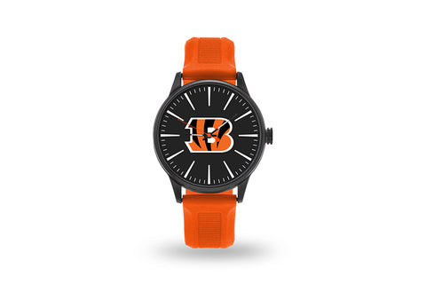 Cincinnati Bengals Watch Men's Cheer Style with Orange Watch Band
