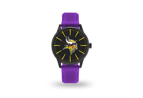 Minnesota Vikings Watch Men's Cheer Style with Purple Watch Band