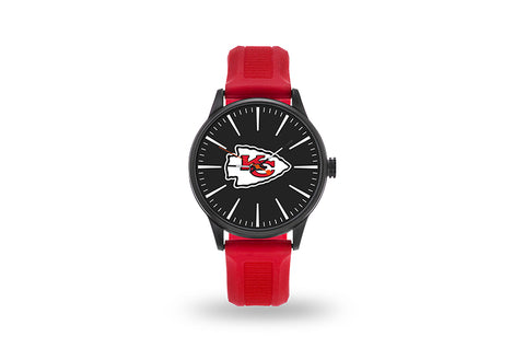 Kansas City Chiefs Watch Men's Cheer Style with Red Watch Band
